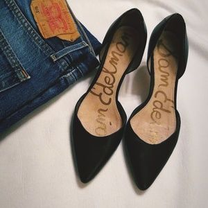 Sam Edelman black leather heels